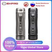 Originale Ehpro In Acciaio A Freddo 100 120W TC Box MOD Veloce Velocità di Cottura E-cig Vaping Mod Alimentato da 18650/20700/21700 Batteria Vs Trascinare 2