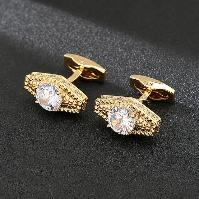 Rhinestone Luxury  Men's Cufflinks  3