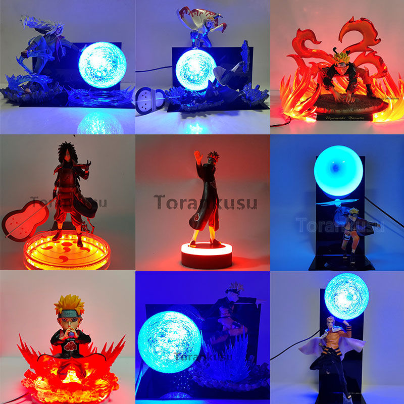Naruto Figure LED Night Light for Childrne Uzumaki Naruto Uchiha Madara Senju Tobirama Namikaze Minato Pain Anime Night Lamp|LED Night Lights|   - AliExpress