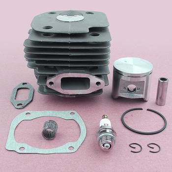 Juego de juntas de rodamiento de jaula de Anillos de pistón de cilindro redondo de 48mm para piezas de Motor de motosierra HUSQVARNA 365 362
