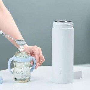 Image 4 - Youpin Viomi elektrikli su bardağı 400ml taşınabilir termos güveç fincan dokunmatik kontrol yalıtım Pot sıcak tutmak şişe seyahat için açık