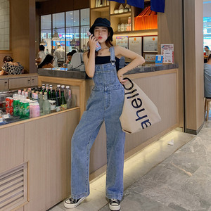 Lguc.H Denim Overalls Jumpsuit Women Loose High Waist Jeans Woman 2020 Straight Women Jeans Casual Korean Style Jean Femme XS