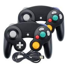2 pces com fio gamepad para nintend ngc joystick joypad para gamecube controlador para wii wiiu gamecube jogo acessório