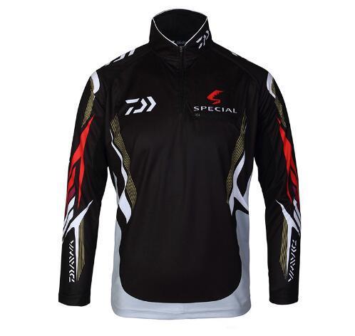 Men DAIWA Fishing Clothes Long Sleeve Zipper Plus Size Sports Fishing Shirts Breathable Anti Uv Fishing Fersey Shirt Ropa Pesca