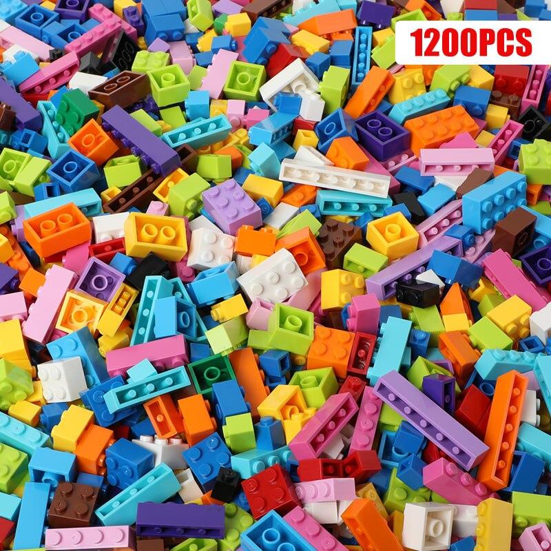 Creative 1200 Pieces DIY Building Blocks City Bricks Bulk Model Figures Educational Kids Toys Compatible All Brands