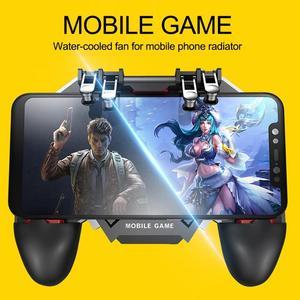 Image 3 - AK77 шесть пальцев PUBG мобильный джойстик игровой контроллер игровой коврик триггер стрельба геймпад USB зарядка Джойстики для PUBG