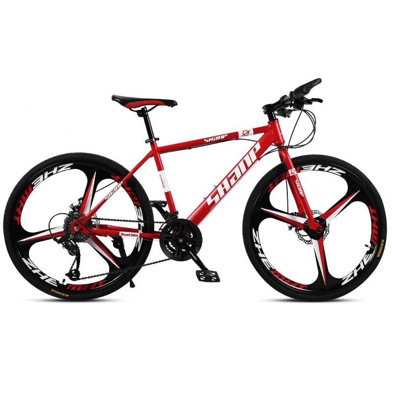 Carbon Steel Mountain Bike Dual Disc Braking System Off-Road Variable Speed 21/24/27/30 Speed  Sepeda Gunung Unisex