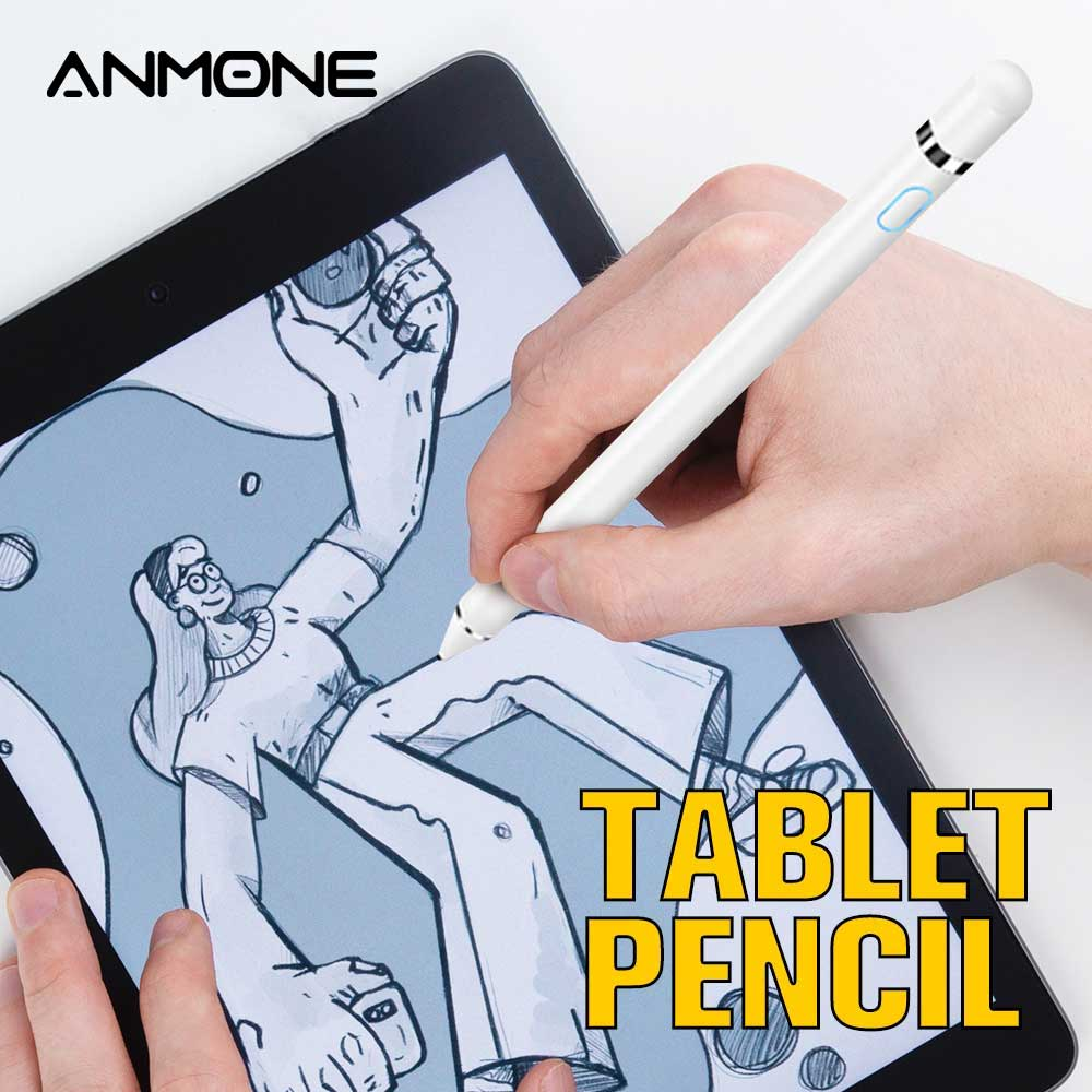 ANMONE Active Stylus Touch Pen For Apple iPad Pro 11 12.9 10.5 9.7 High Precision Smart Capacitance Pencil for xiaomi Tablet|Tablet Touch Pens| |  - title=