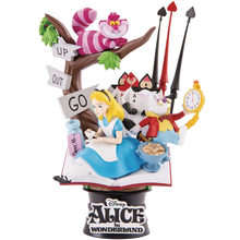 Disney alice in maravilha princesa pvc, figura de ação, decoração, modelo, 15cm, anime, estatueta, coleção, brinquedo para crianças, presente para meninas