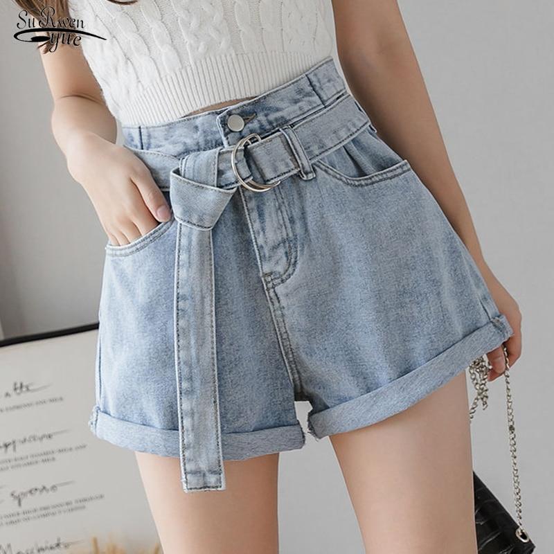 Women's Denim Shorts Vintage High Waist Blue Wide Leg Female Casual Summer Ladies Shorts Jeans For Women Short Femme 8941 50