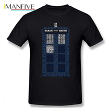 Who Is Your Companion Doctor Who Men T Shirt Top Random Plus Size O-neck Cotton Custom Short Sleeve Brand Clothing