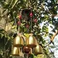 Elegante sino de cobre sinos vento antiferrugem ao ar livre torre design pendurado decorações presentes aniversário os melhores desejos para decoração casa