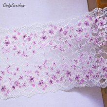 Elastic-Lace Bra Clothes-Accessories Stretch Fabric Sewing-Materials Trim Pink Embroidered