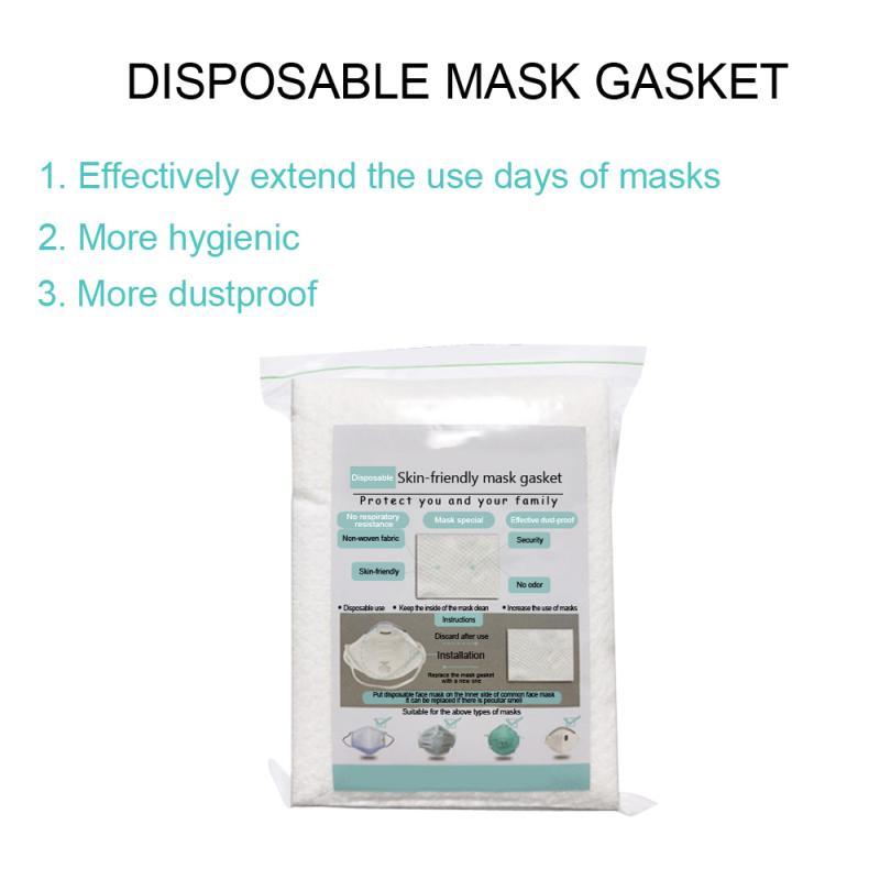 100pcs Skin Friendly Face Mask Gasket 3 Layer Composite Anti-PM2.5 Dustproof Respirator Mask Filter Cartridge