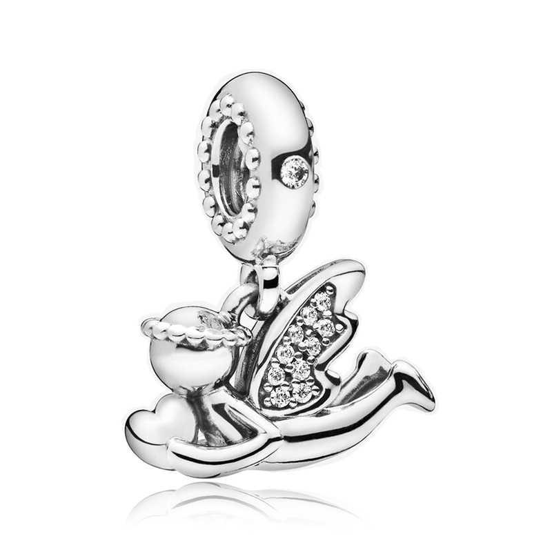 Fit Pandora Charms Armbänder DIY Frauen Silber Original-Bead Schmuck Zubehör Silber 925 Star Mickey Pinguin Engel Anhänger