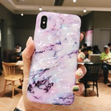 ELALA Glitter Gradient Color Marble Case For iphone XR X XS Max 6 6S 7 8 Plus Soft Cover Cute Candy Fashion New Phone