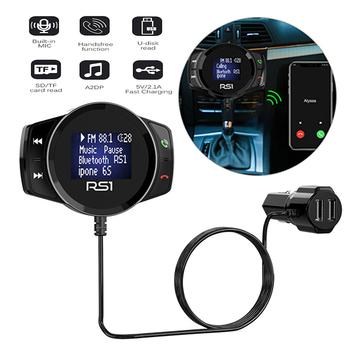 Modulator FM do automatycznego zestawu głośnomówiącego Radio samochodowe zasilanie nadajnik FM bezprzewodowy samochód zestaw MP3 odtwarzacz Audio samochodowy bezprzewodowy zestaw głośnomówiący tanie i dobre opinie Mayitr CN (pochodzenie) Car Charger MP3 Player 150g Car Charger FM Transmitter 76*55*13mm