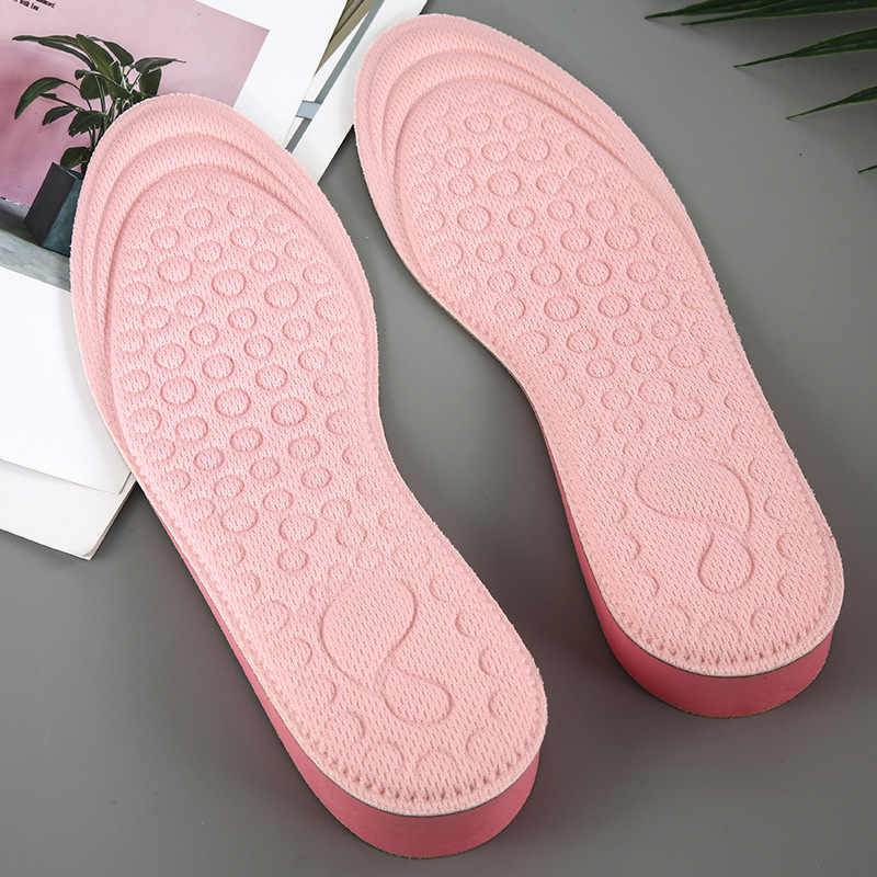 1 Pair Increased Insoles Massage Casual EVA Sports Invisible Heightened Shoes Soles For Women men Soft Breathable Solid Full Pad