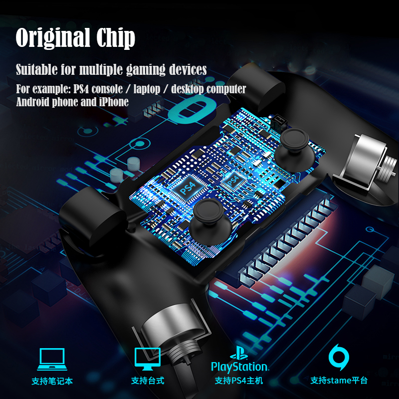 Bluetooth Gamepad and Wireless Gaming Controller for PS4 Pro/PC/iPhone/Android Smartphone 4