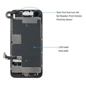 Image 3 - Montagem completa tela oem para iphone 8 mais display lcd digitador substituição com câmera frontal + alto falante placa pantalla