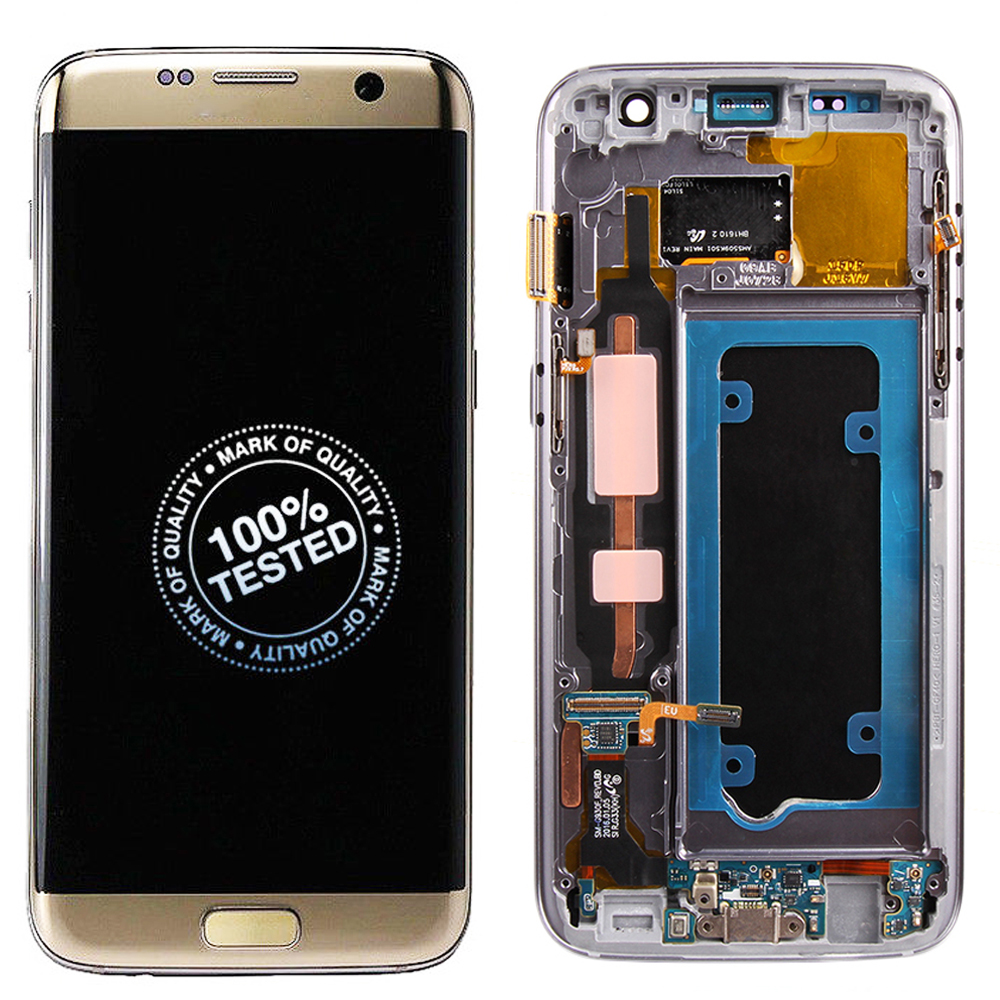 Original AMOLED For SAMSUNG GALAXY S7 LCD Display Touch Screen Digitizer Assembly With Frame For SAMSUNG S7 G930 G930F LCD