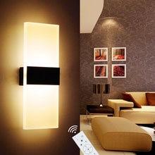 Современная светодиодная акриловая настенная лампа для дома