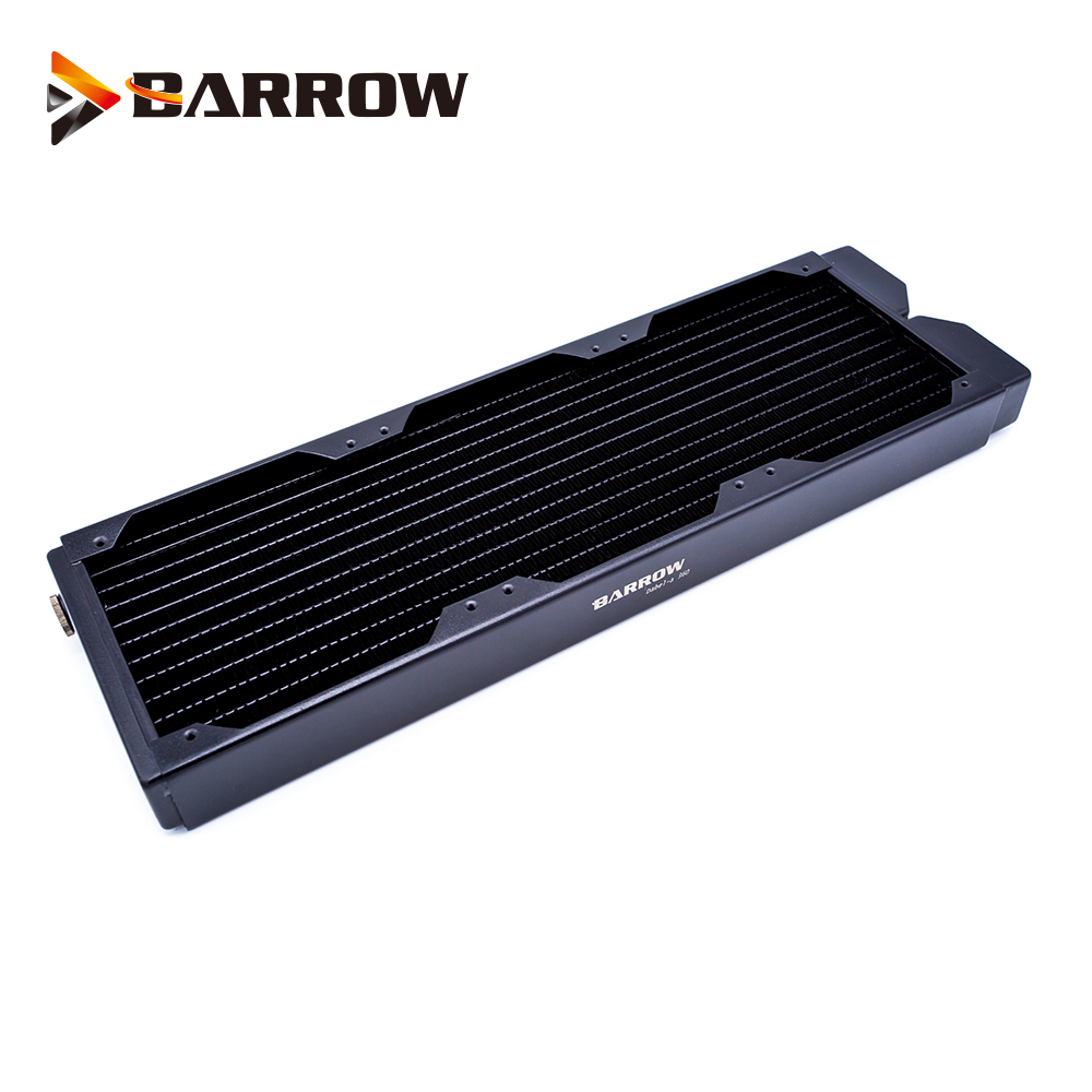 BARROW 34mm Thickness Copper 360mm Radiator Computer Water Discharge Liquid Heat Exchanger G1/4 Threaded Use For 12cm Fans