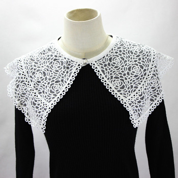 Embroidery Flower Dickie Hollow Out Shawl Dress Decoration Detachable Fake Collar New Free Shipping Necklace Shirt Women