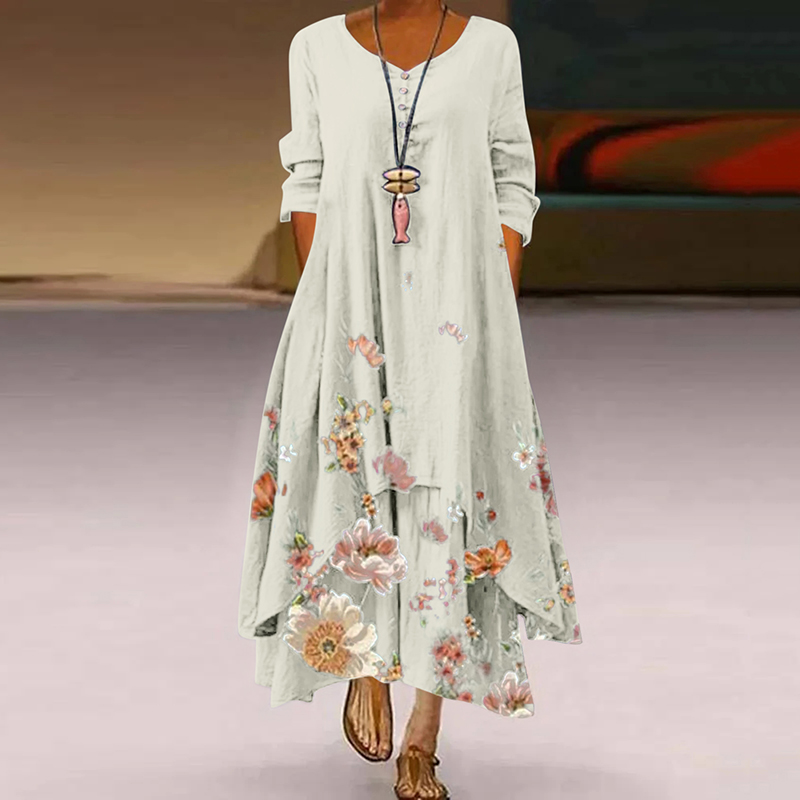 vintage embroidered tunic dress hippie caftan long kurt
