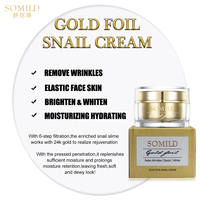 SOMILD 24K Gold Face Cream Snail Essence Anti Aging Wrinkle Removal Facial Lotion Whitening Moisturizing Korean Skin Care Set 3