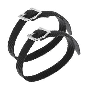 2 Piece Equestrian Horse Riding English Spur Straps with Silver Buckles - 45cm Length