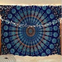 Богемная висячая ткань иллюзорное Павлин Мандала настенные цветы