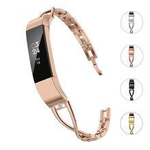 Para Fitbit Alta hr Aço Inoxidável Banda Rosa de Ouro Prata Metal Substituição Cinta Bandas Pulseira Para Fitbit Acessórios de Alta