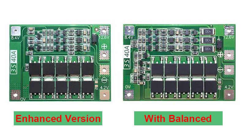 3S 40A 18650 リチウムイオンリチウム電池充電器保護ボード Pcb Bms ドリルモータ 11.1V 12.6V リポ携帯モジュール
