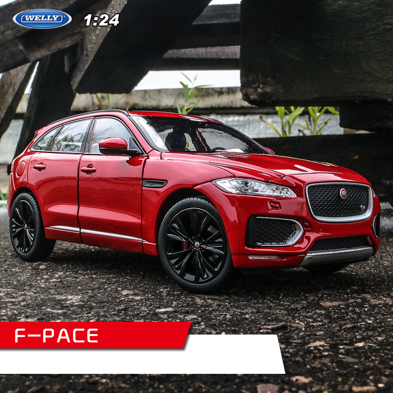 Welly 1:24 Jaguar F-PACE Red  Car Alloy Car Model Simulation Car Decoration Collection Gift Toy Die Casting Model Boy Toy