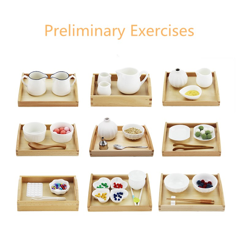 Preliminary Exercises Montessori Practical Materials Pouring/ Spooning/ Clipping Works For Kids 2~4.5years Early Educational Toy