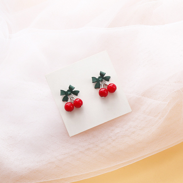 Korea Cute Fruit Cherry Drop Earrings For Women Girls Kids Jewelry Trendy Crystal Acrylic Resin Enamel.jpg 640x640 - Korea Cute Fruit Cherry Drop Earrings For Women Girls Kids Jewelry Trendy Crystal Acrylic Resin Enamel Earrings Gifts 2019 New