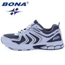 BONA zapatos informales para hombre, zapatillas de deporte masculinas, a la moda, zapatos de malla planos, envío gratis