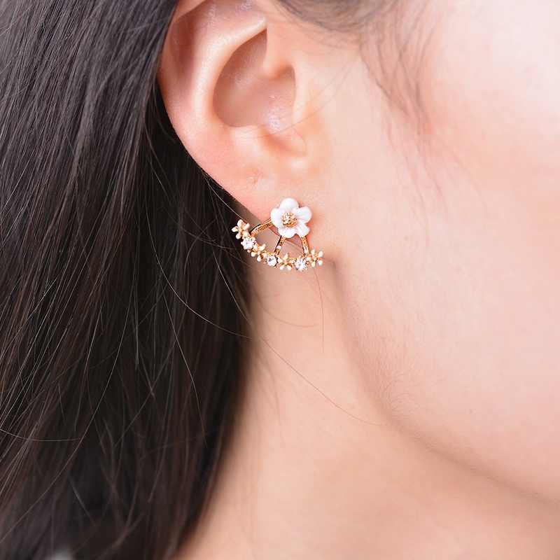 באיכות גבוהה אופנה חדש 2019 בנות פנטגרם עגיל Bow Stud עגילים לנשים תכשיטים סיטונאי עגילים