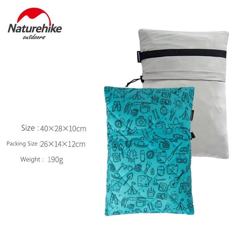 Naturehike дорожный напольный Ультра свет Губка Портативный Ланч диван Автомобильная подушка для шеи - Цвет: Sky blue