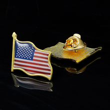 American Flag Hat Tie Tack Badge 3D Waving Lapel Pin United States Paint Pin Brooch Decor sweden waving friendship flag metal lapel pin united nations badge pin back tie badge