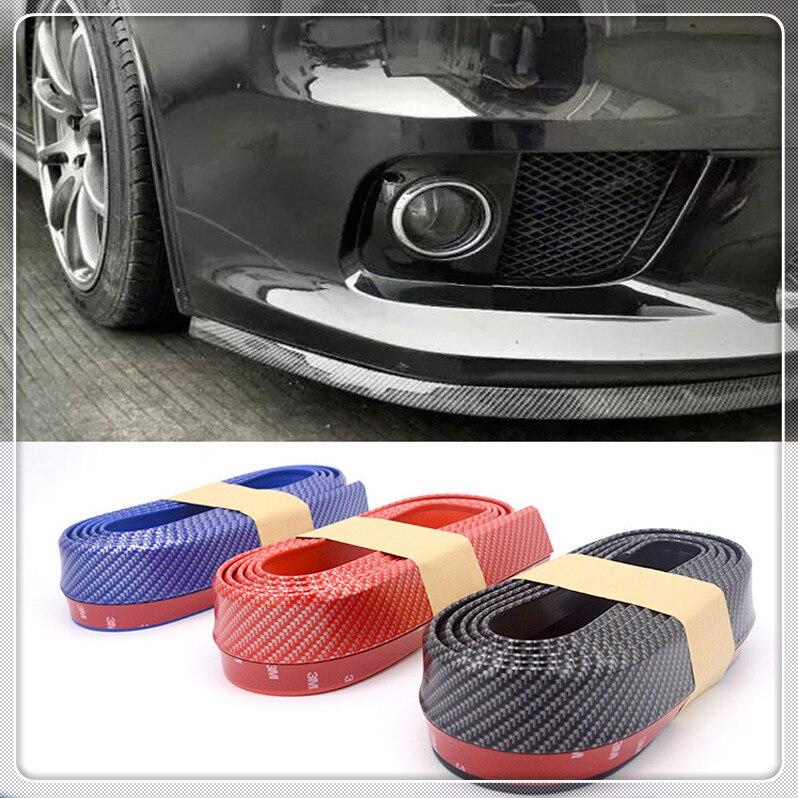 Car Lip Strips Splitter Spoiler Door Bumper Carbon Fiber Rubber for BMW 330e M235i Compact 520d 518d 428i 530d 130i|Styling Mouldings| |  - title=