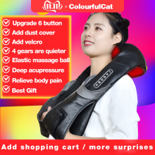 Electric-Neck-Roller-Massager Massage-Pillow Sha-Products Relaxation Shiatsu Infrared-Lamp