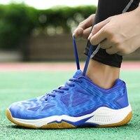 الرجال أحذية كرة الريشة المرأة المحكمة الكرة الطائرة الأحذية المهنية الريشة أحذية رياضية الأزواج التدريب حذاء رياضة شبكة تنفس