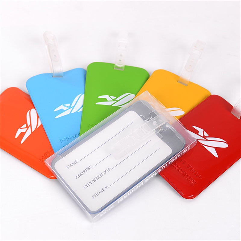 Travel Accessories Creative Baggage Boarding Tags Luggage Tag Cartoon PVC Suitcase ID Address Holder Portable Label