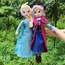 40cm Disney Princess Frozen Plush Toy anna Elsa Doll toys for children  anime plush toys girls toys 31cm disney frozen 2 princess anna and elsa doll for girls toys high quality for plastic baby dolls congelad children gift