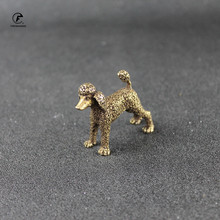 Lucky-Desk-Decorations-Accessories Shui-Ornament Poodle-Figurines Copper Standing Dog-Statue-Feng