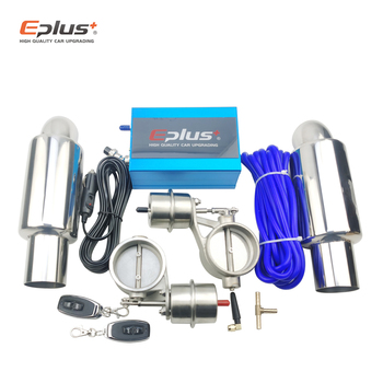EPLUS Car Exhaust System control Valve Sets Vacuum Controller Device Remote Controller Switch Universal 51 63 76MM rastp exhaust control valve set with vacuum actuator cutout 3 0 76mm pipe close style with wireless remote controller rs bov041