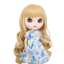 Высокое качество термостойкие волокна Blyth куклы парики 9-10 дюймов на выбор