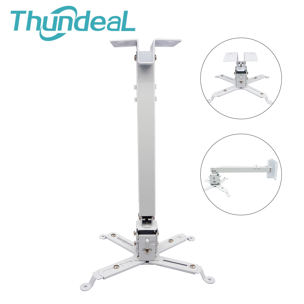 ThundeaL Ceiling Projector Wall Mount Bracket Threading Stretch Holder Universal Adjustable Hanging Bracket Loading 15KG